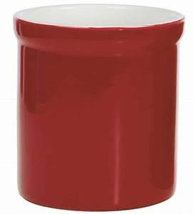 Ceramic Utensil Holder - Red in Kitchen Utensil Holders