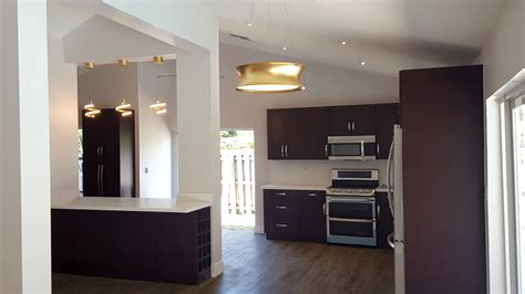 open concept kitchen  kendall miami general contractor