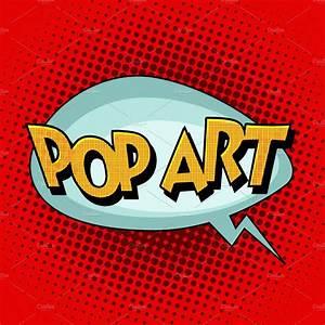 Pop Art Comic Retro Bubble Text Illustrations Creative