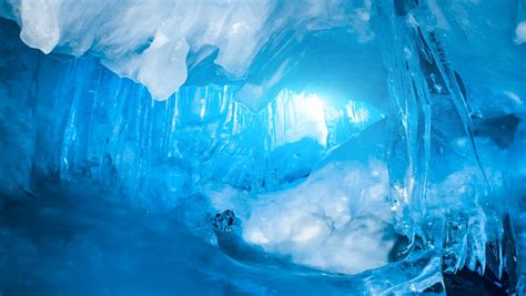 Fairy Blue Ice Cave Full Stock Footage Video (100% Royalty ...