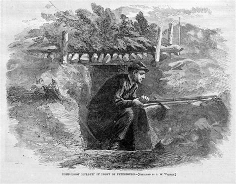 bomb proof rifle pit civil war soldier and his rifle ebay