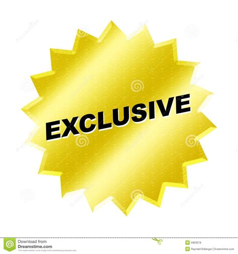 Exclusive Sign Royalty Free Stock Photos - Image: 5963078