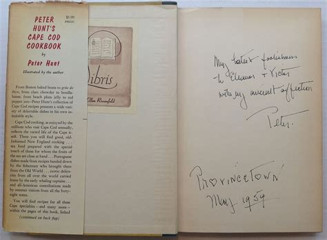 Peter Hunt's Cape Cod Cookbook By Peter Hunt Signed