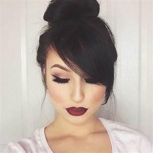 20+ Bun Hairstyles with Bangs Hairstyles & Haircuts 2016 2017