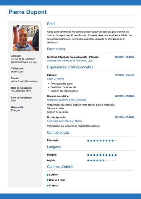 Exemple De Curriculum Vitae Professionnel by Faire Un Cv En Ligne T 233 L 233 Chargez Votre Cv En 3 233