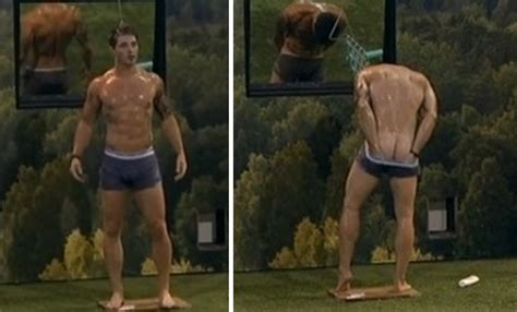 big brother s caleb gets wet and shows off his sweet ass