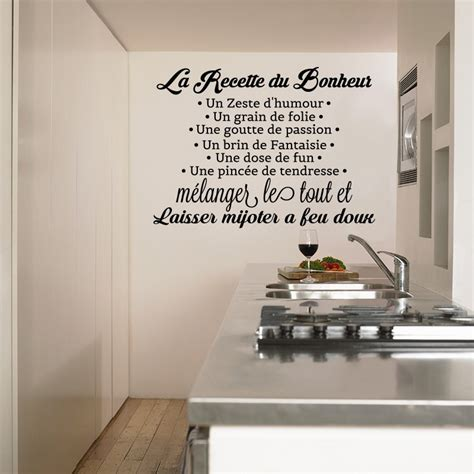 stickers facade cuisine finest stickers recette de cuisine sticker la recette du