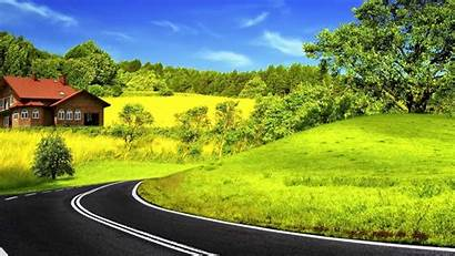 Nature 1080p Wallpapers Background Road Sky Marking