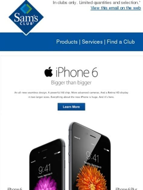 sams club iphone sam s club iphone 6 available sept 19 milled