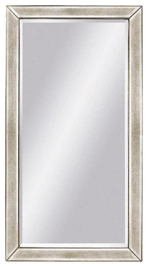 floor mirror houzz floor mirror in antique silver painted finish beveled edges contemporary floor mirrors