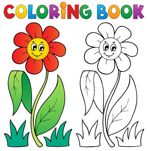 coloring book vector set