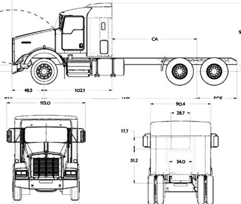 It has nothing to do with the real ones. Kenworth K100 Blueprints - K100 : R&r brings everyone our first truck for fs15 a kenworth k100 ...