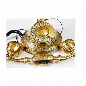 Telephone Mural Vintage : appealing brass classic retro vintage telephone antikcart ~ Teatrodelosmanantiales.com Idées de Décoration