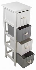 meuble salle de bain bois gris 4 tiroirs jersey bord de With meuble salle de bain mer