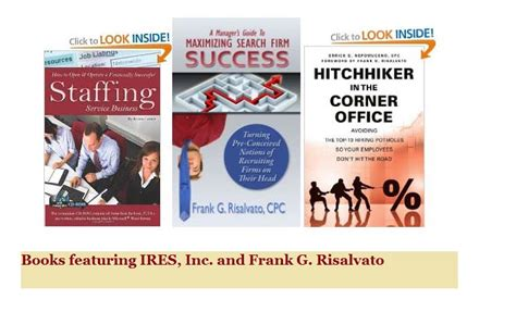Recruiter Book by Insurance Executive Recruiter Books Ires