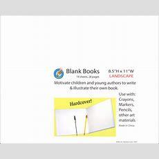 "Blank Book 115"" X 85"" Landscape (hardcover) (016366) Details  Rainbow Resource Center, Inc"