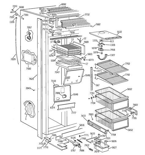refrigerated ge profile refrigerator parts