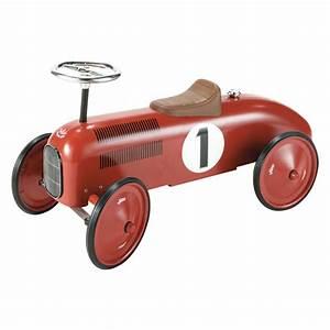 Porteur Voiture Vintage : porteur voiture en m tal rouge l 76 cm vilac maisons du monde ~ Teatrodelosmanantiales.com Idées de Décoration