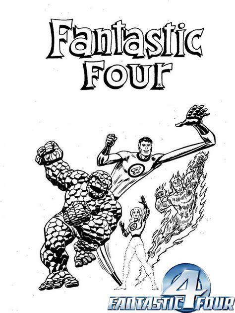 fantastic  marvel comics coloring page