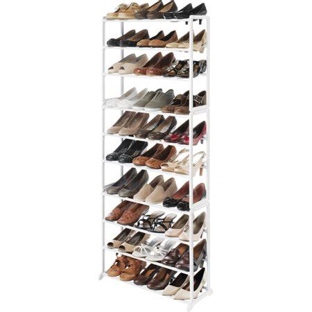 walmart shoe rack whitmor shoe tower rack walmart