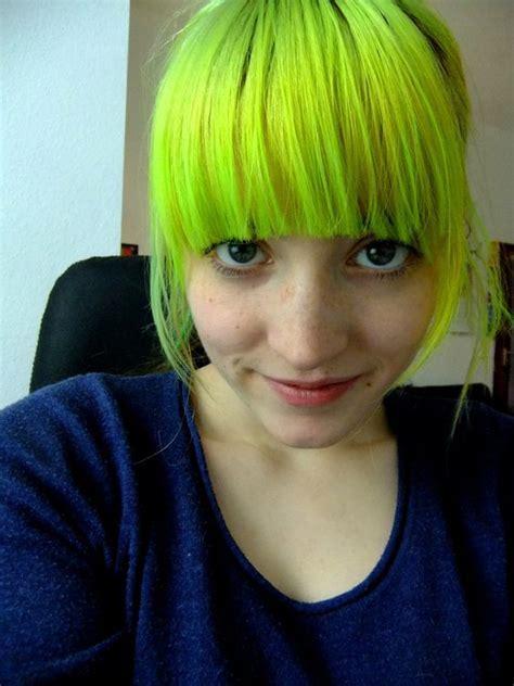 Neon Green Hair Color   Hair Colors Ideas