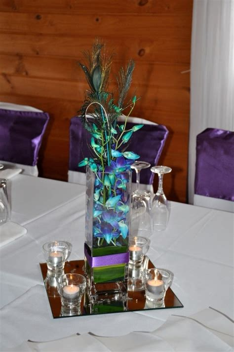 elegant peacock feather wedding centerpieces yugteatr