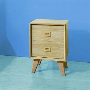 Table De Nuit : table de chevet scandinave 2 tiroirs brin d 39 ouest ~ Dallasstarsshop.com Idées de Décoration