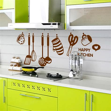 Kitchen Decor Vinyl by Diy Removable Happy Kitchen Wall Decal Vinyl Home