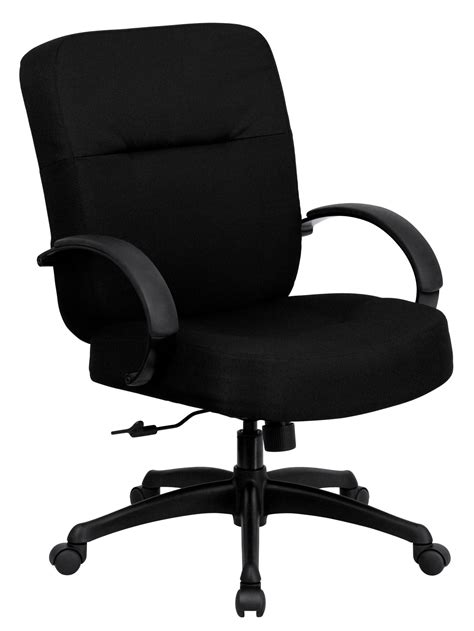 hercules series big black fabric arm office chair