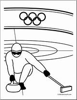 Curling Coloring Olympics Winter Olympic Clip Sport Abcteach Clipart Event Ice sketch template