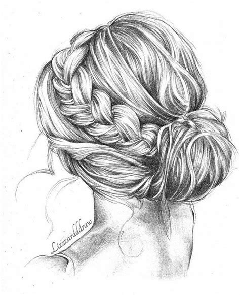bun art pinterest dessin coiffure cheveux dessin