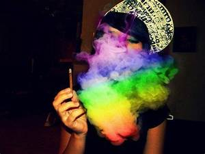 blunt, colorful, cool, girl, rainbow - image #417506 on ...