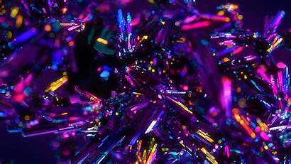4k Abstract Colorful Crystals Wallpapers 3d