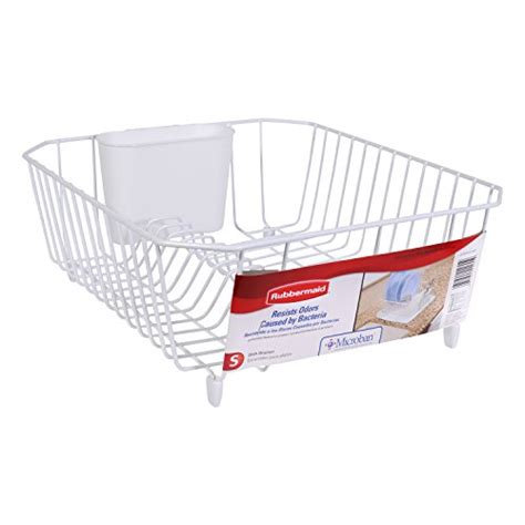 dish drainer small rubbermaid antimicrobial dish drainer small white import it all
