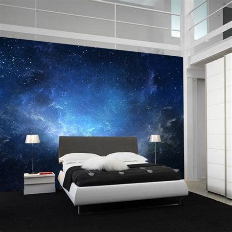 fancy night sky nebula wall mural bedroom ceiling