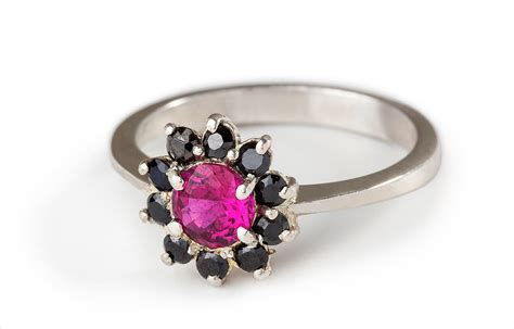 22+ Black And Pink Wedding Rings Designs, Trends