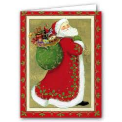 Christmas Bridal Shower Invitations by Santa With Bag Of Toys Boxed Christmas Cards Paperstyle