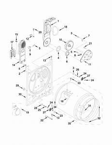 Whirlpool Model Wed4815ew1 Residential Dryer Genuine Parts