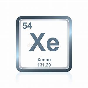 Chemical Element Xenon From The Periodic Table Stock ...