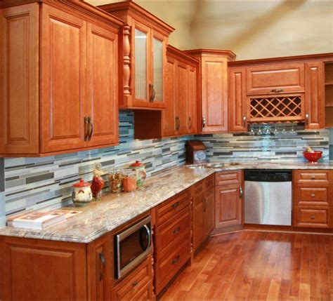 wholesale dark honey  wood maple cabinets full overlay