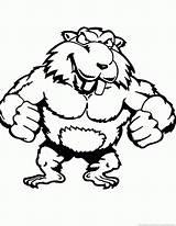 Beaver Animal Coloring sketch template