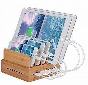 Ladestation Für Handy : yisen handy aus holz bambus 5 anschl sse usb ladestation ~ Watch28wear.com Haus und Dekorationen