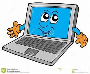Cute Laptop Cartoon Vector