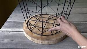 How, To, Make, A, Side, Table, From, Wire, Basket