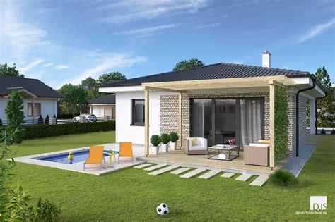 Download our free mobile app! House plans - small l-shaped bungalow L75 | DJS Architecture