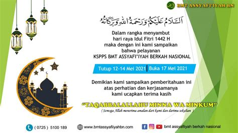 You can search by address, city, county, zip code. Surat Edaran Cuti Bersama 2021 Terbaru: Libur Lebaran 12-14 Mei   BMT ASSYAFI'IYAH BERKAH NASIONAL