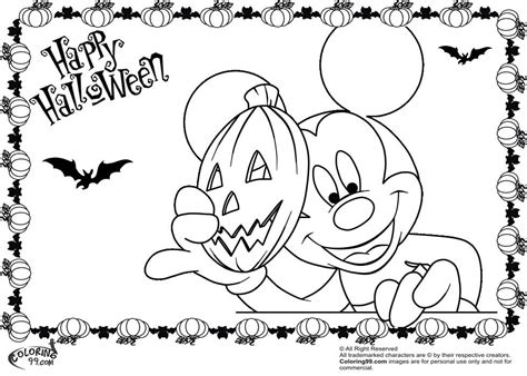 mickey halloween coloring pages coloring home