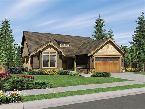 longhurst craftsman ranch home plan   house