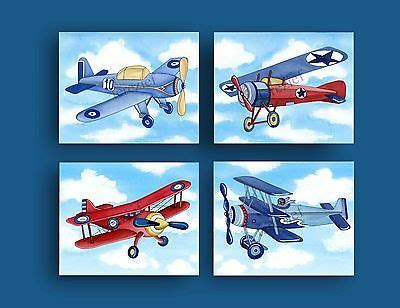 Playful wall stickers for your nursery create a feeling of whimsy and wonder for your child. boy airplane nursery art vintage airplane bedding print ...