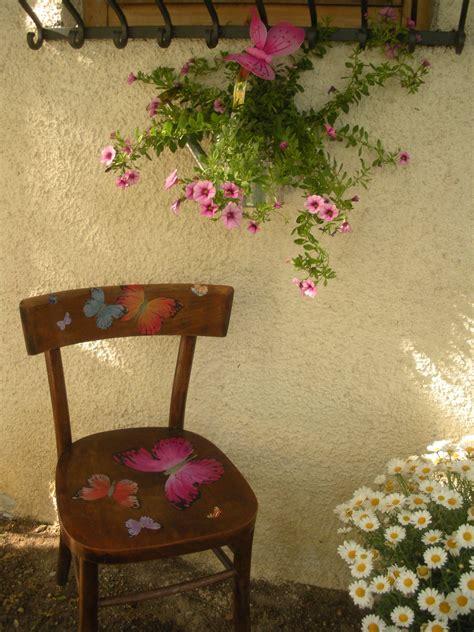 decoupage sedie sedia giardino decorata decoupage decorazione casa e